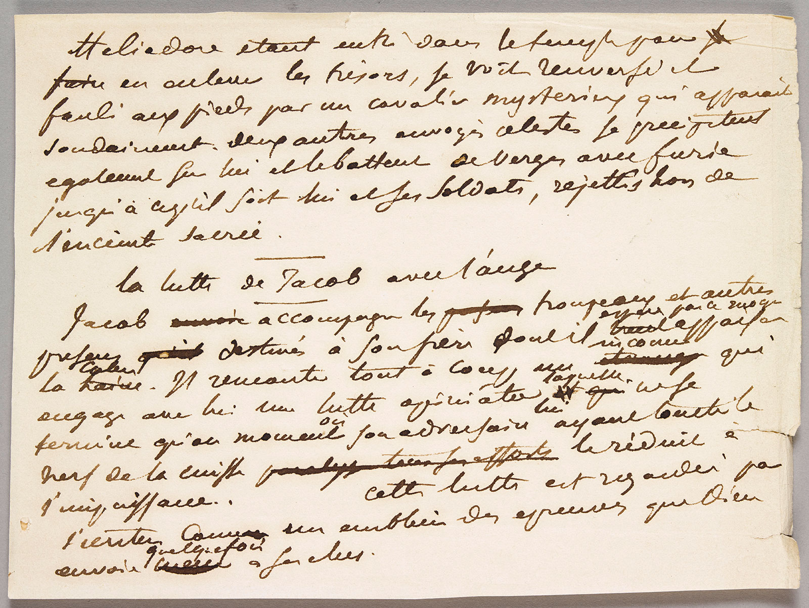 Ensemble de lettres autographes, de notes d'Eugène Delacroix et de documents d'archives